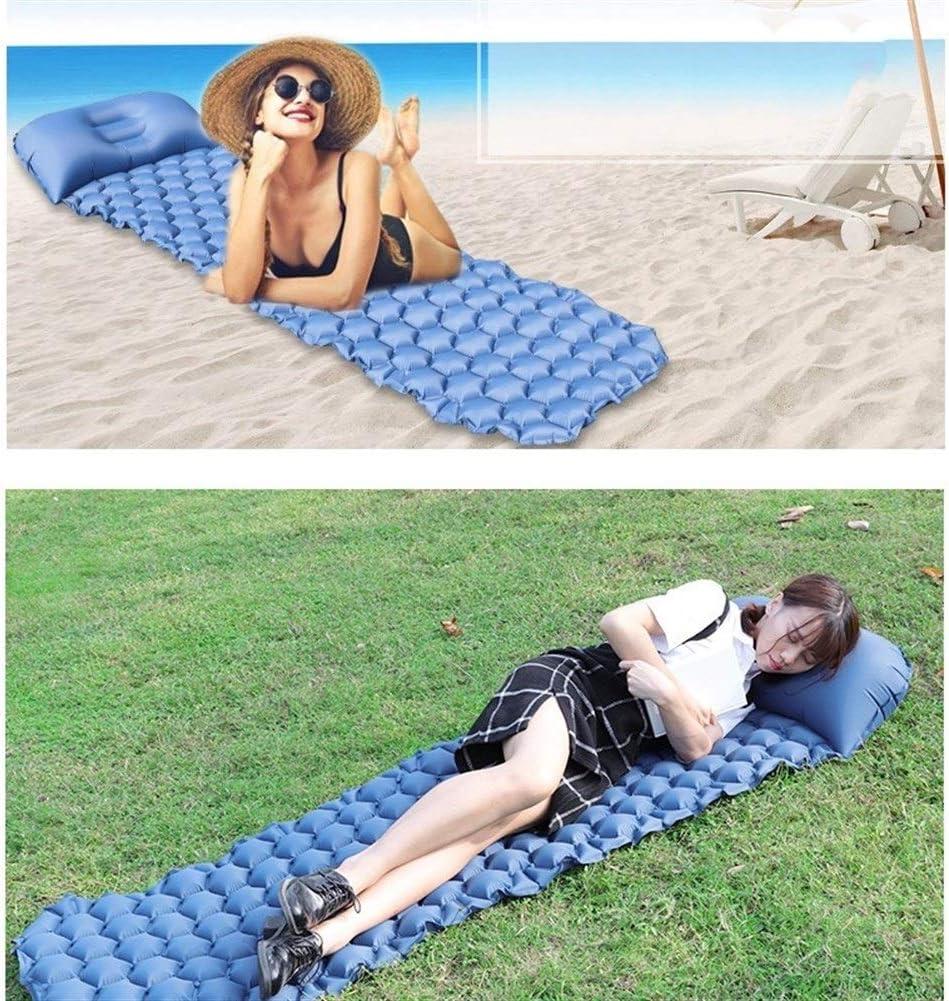 DYHM Coperta da Picnic Ultralight Outdoor gonfiabili Mat Cuscino Dormire a Pelo Camping Camping Materasso Escursione di Campeggio di Viaggio Navy Blue