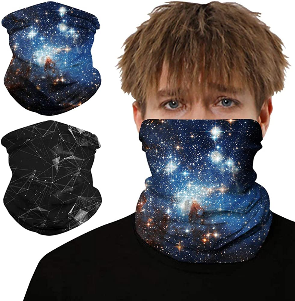 Breathable Neck Gaiter Camo Bandanas Face Mask Seamless Scarf Tube Headwear Balaclava for Dust Wind