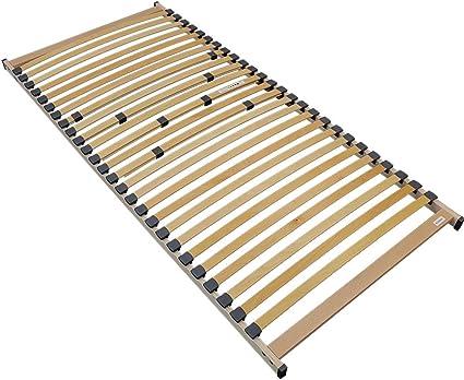 Somier de Listones de Madera para colchones Rubí 90 x 200 cm - 26 Listones estables y Flexibles - Montaje Sencillo, Resistente hasta 120 kg
