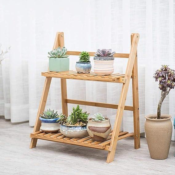 Amazon.com: Estante de madera para flores de 4/3/2 capas ...