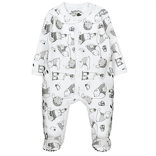 Bóboli 144166, Pelele para Bebé-Niños, Multicolor (Estampado Polar), 74 (Tamaño del fabricante:74cm): Amazon.es: Ropa y accesorios