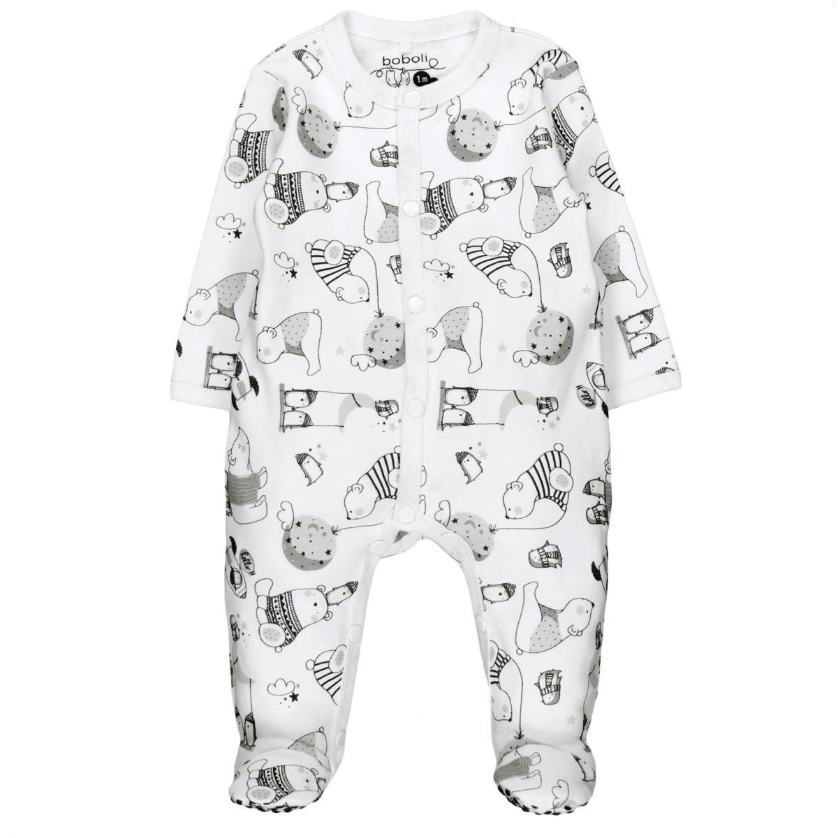 Bóboli 144166, Pelele para Bebé-Niños, Multicolor (Estampado Polar), 56 (Tamaño del fabricante:56cm): Amazon.es: Ropa y accesorios