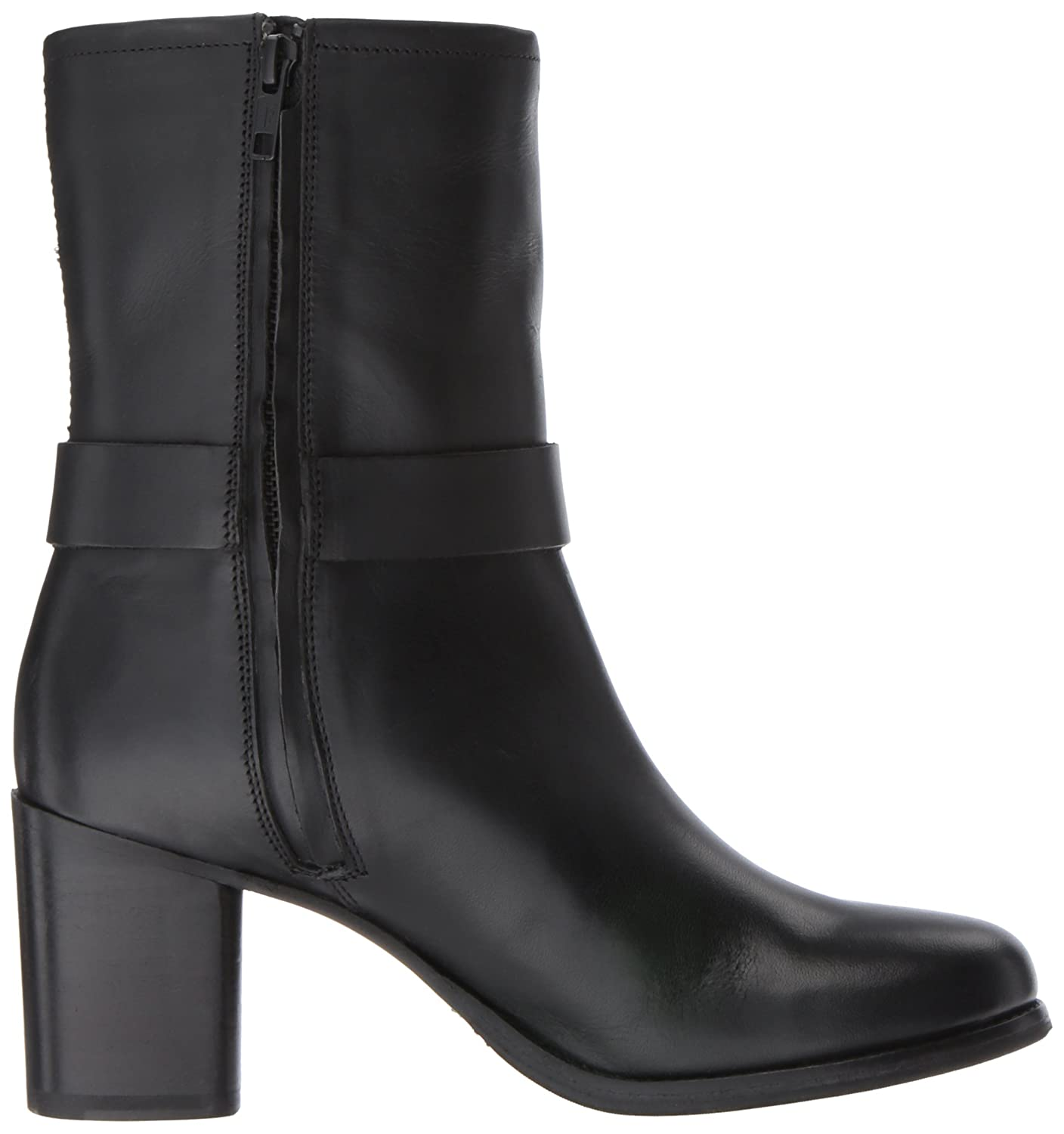 FRYE Women's Addie Harness Mid Boot B01N5O6ZK9 11 M US|Black Smooth Antique Pull Up