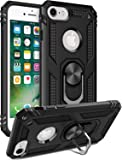 iPhone SE2 Case 2020,iPhone 7 Case,iPhone 8 Case,iPhone 6 6s Case,LUMARKE Military Grade Cover with Car MountKickstand Protective Phone Case for iPhone 6 6s/iPhone 7/iPhone 8/New iPhone SE2 Black