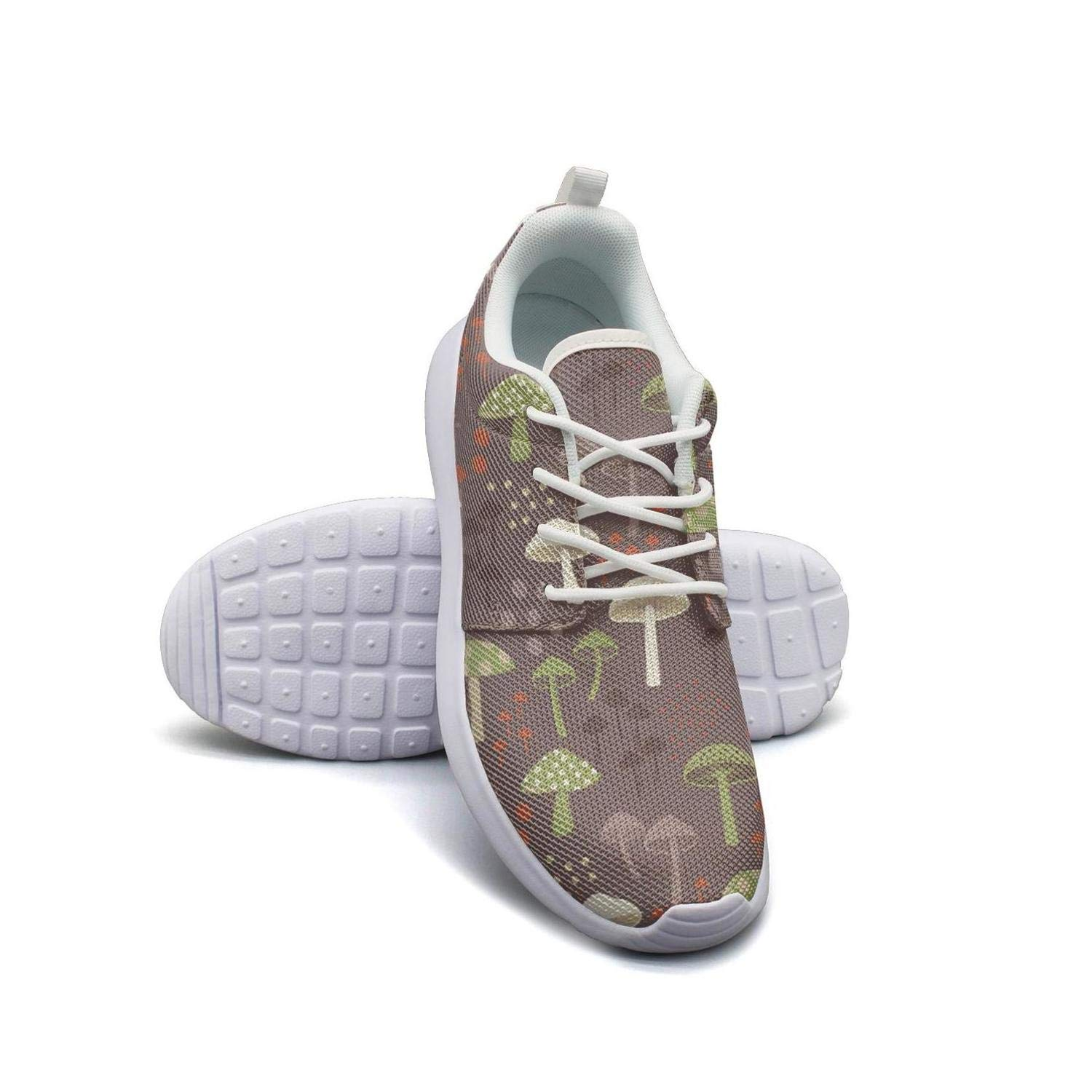 VXCVF Balck and White Mushroom Male Sneakers for Mens Comfortable and Lightweight Athletic