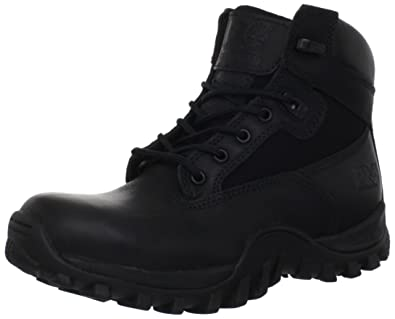 Timberland PRO Valor Men's Mcclellan 6 Inch Soft Toe Work Boot,Black  Leather,3.5