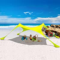 Deals on HARBLAND 7-ft x 7-ft UPF 50+ Popup Beach Tent