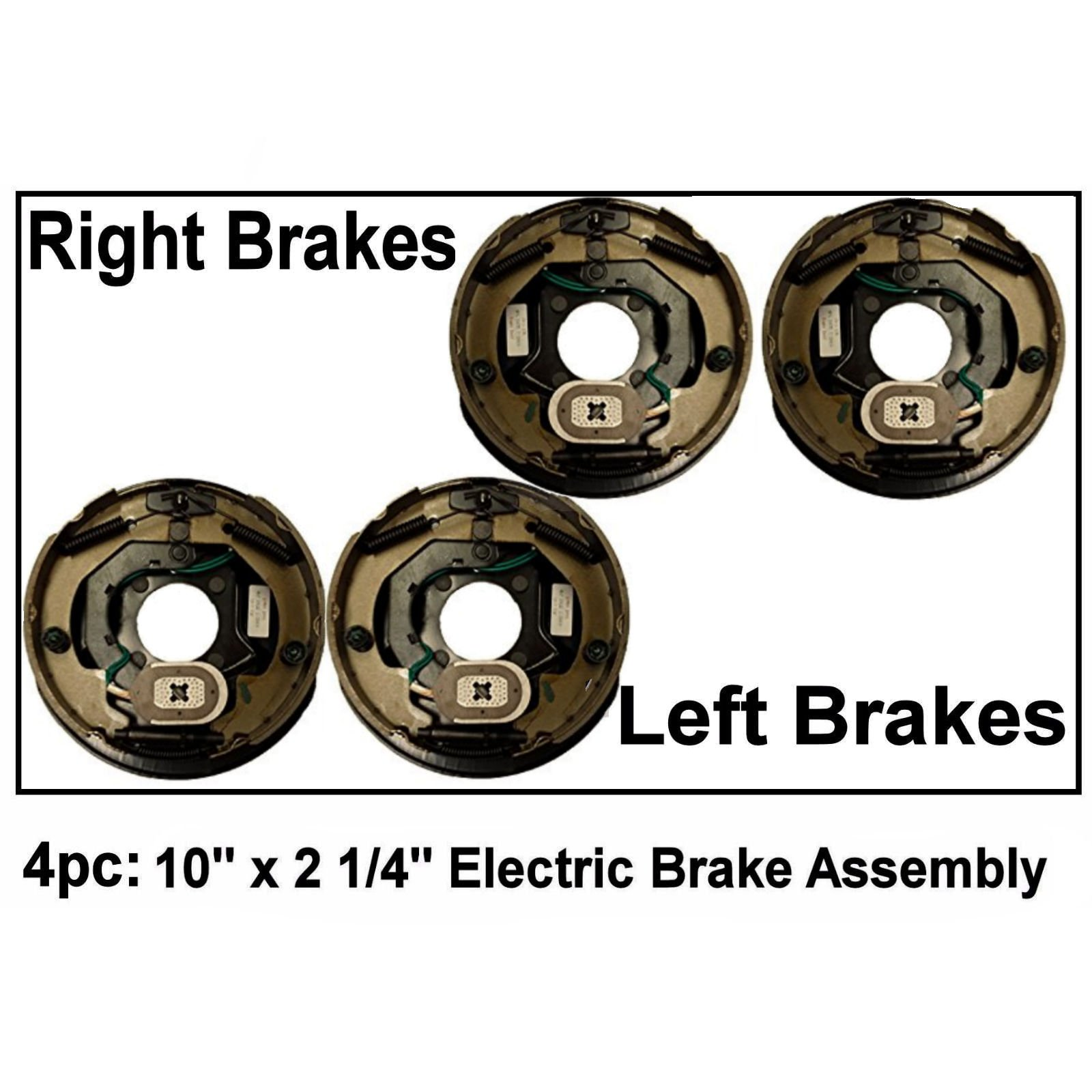 Auto Express 4pc Electric Trailer Brake 10'' x 2.25'' Assembly Right & Left Side 3500 lb axles by Auto Express