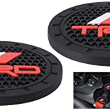AOOOOP Car Interior Accessories for TRD PRO Cup Holder Insert Coaster - Silicone Anti Slip Cup Mat for Racing Development Seq