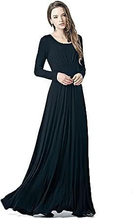 Charm Your Prince Women's Designer Round Neck Long Sleeve Maxi Dress