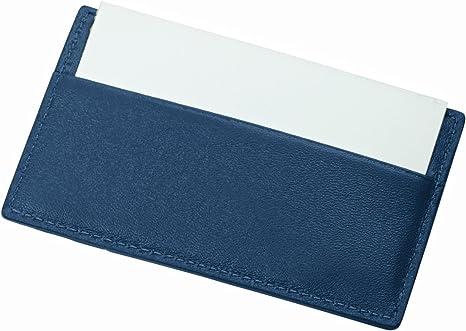 Lucrin Kreditkarten Und Visitenkartenetui Azurblau Glattleder Bekleidung