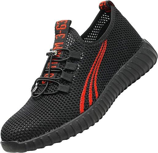 Imagen deUcayali Zapatos de Seguridad Hombre Trabajo Cómodas, Zapatillas de Trabajo con Punta de Acero Ultraligero Transpirables, 39-47