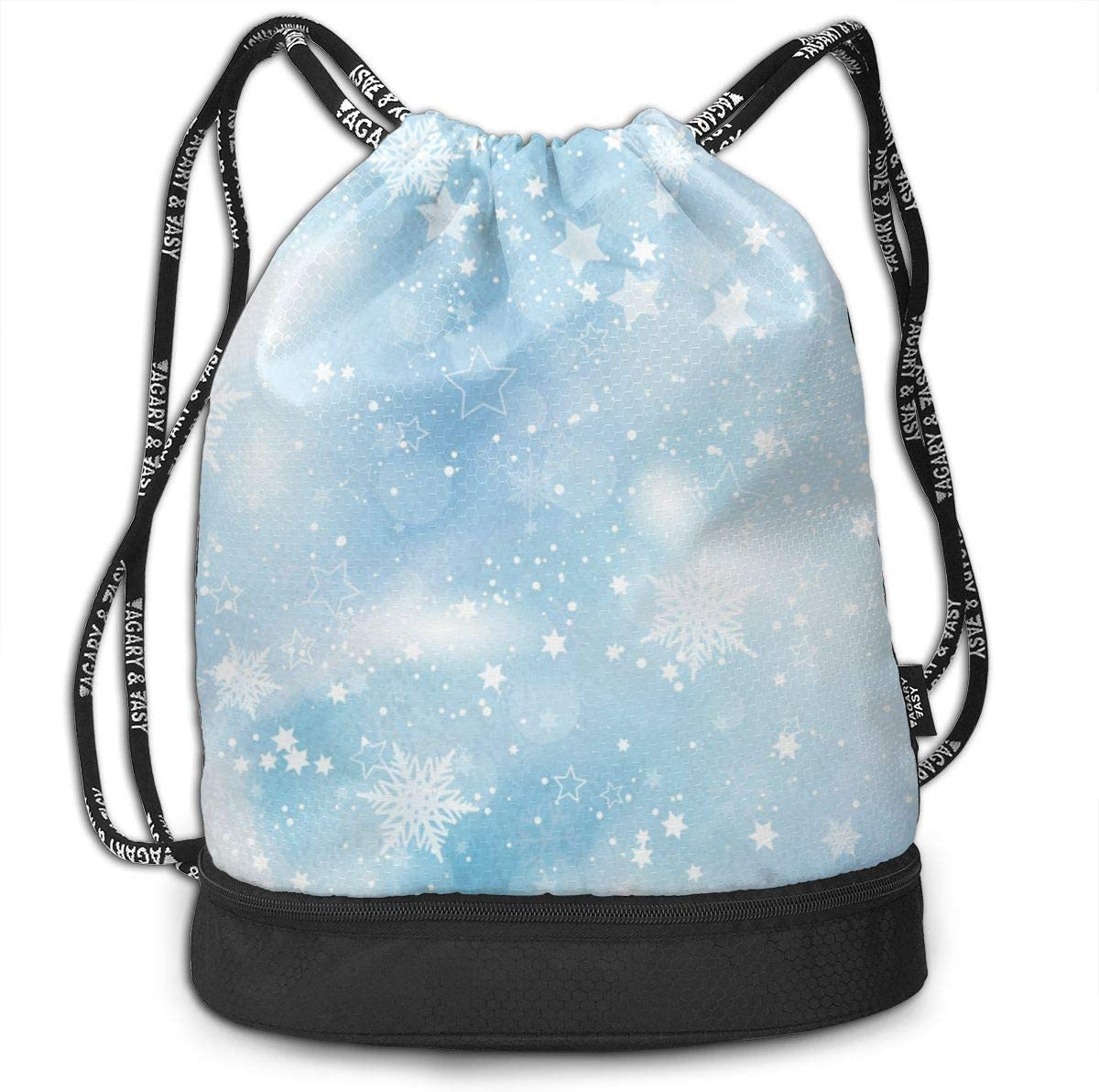HUOPR5Q Giraffe Family Drawstring Backpack Sport Gym Sack Shoulder Bulk Bag Dance Bag for School Travel