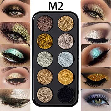 12 Color Diamond Glitter Eyeshadow Palette Gold Shine Eyeshadow Glitter Shiny Eyeshadow Blue Eye Shadows Cosmetics Tool High Quality And Inexpensive Beauty Essentials Eye Shadow