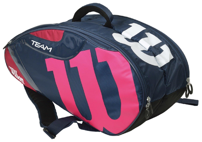 Wilson(ウイルソン) テニスバッグ TEAM J 6PACK WRZ640706 B01NAI4JAP 76×23×32cm ネイビー×ピンク ネイビー×ピンク 76×23×32cm