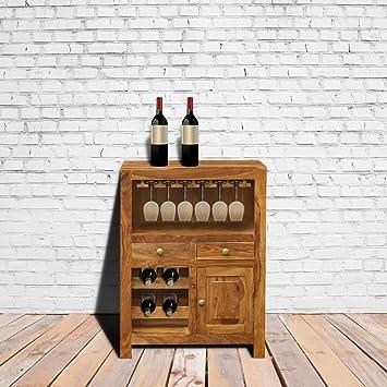 Furnituregully Sheesham Wood Bar Unit With Storage For A Dapper