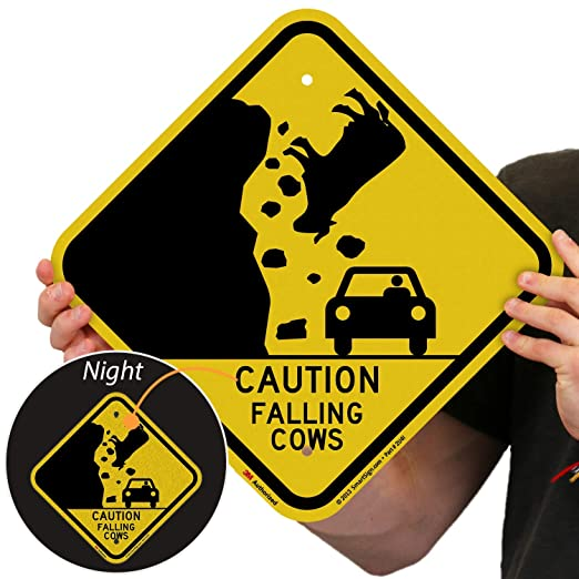 Caution Livestock COUN1024 stickers /& signs