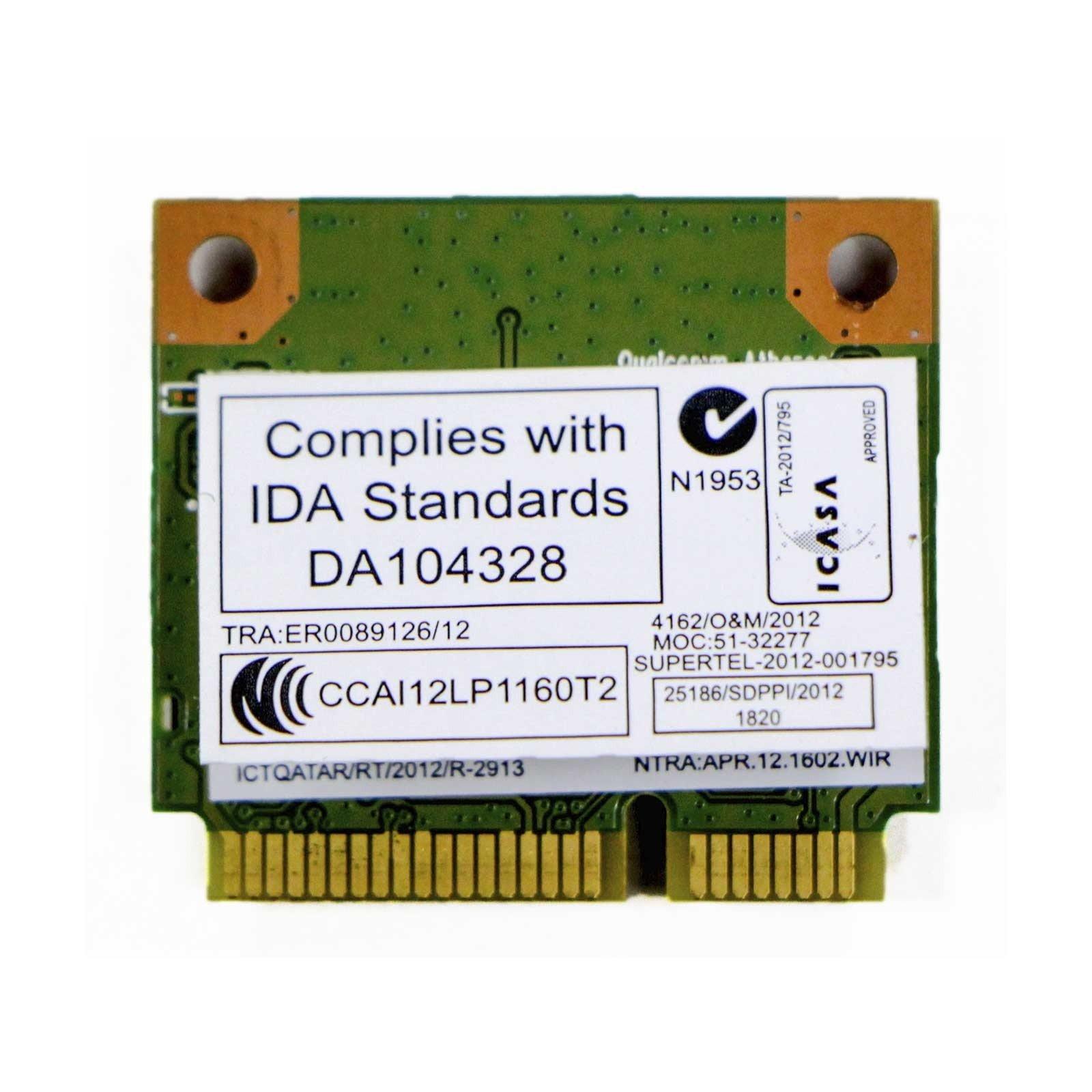 Qualcomm / Atheros Replacement for HP Laptop AR9565 Half Mini PCIe WLAN WIFI Wireless BT Bluetooth Card (B00TN7BI2U) Amazon Price History, Amazon Price Tracker