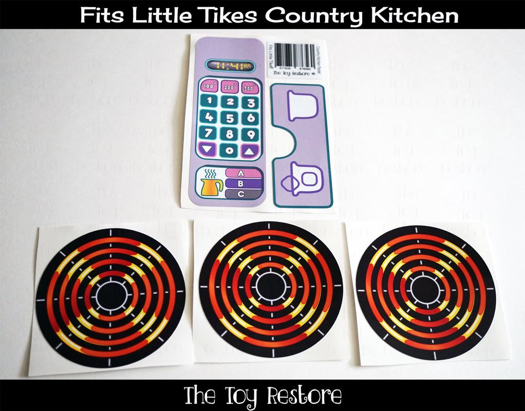 Amazon.com: New Replacement Decals Fits Little Tikes Country Kitchen ...