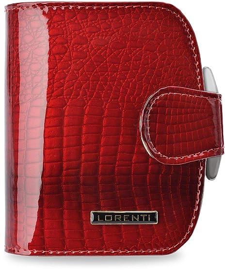 Elegante Damen Geldbörse MONNARI lackiert Portemonnaie Geldbeutel rot