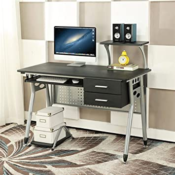 EBS Computer Home Office Desk with Sliding Keyboard 2 Drawers