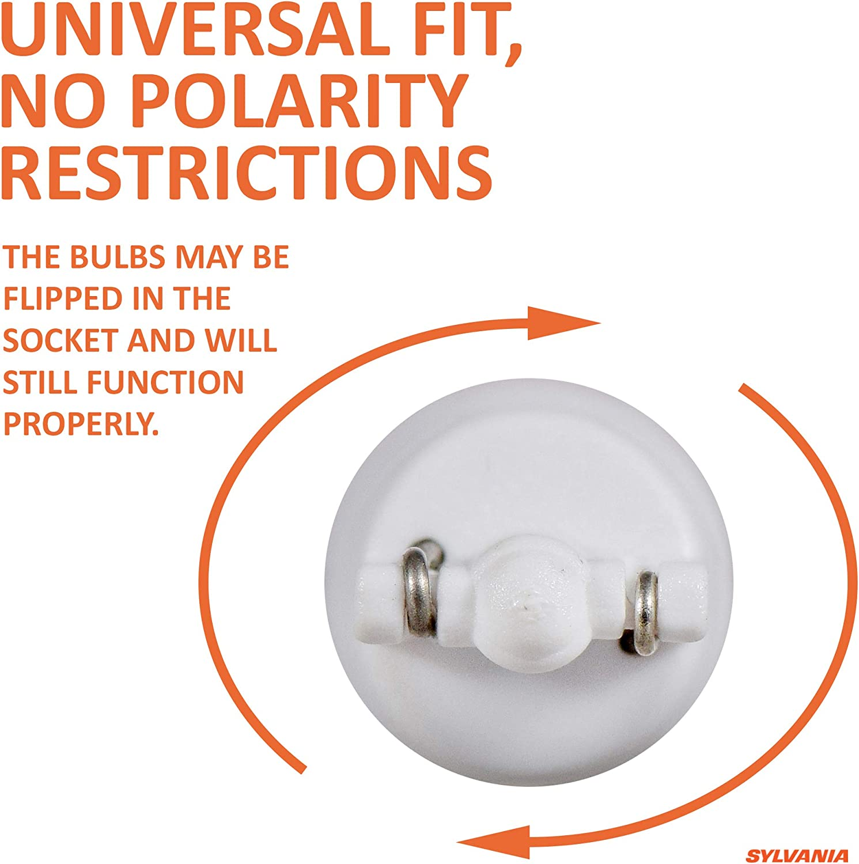 Contains 2 bulbs SYLVANIA ZEVO 2825 T10 W5W White LED Bulb,