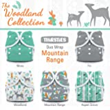 Thirsties Package, Snap Duo Wrap, Woodland Collection Moutain Range, Size 2