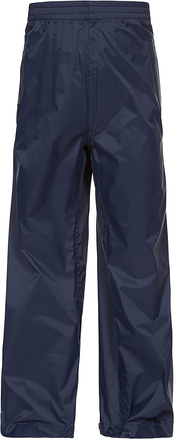 Trespass Kids Qikpac Compact Pack Away Waterproof Trousers with 3 Pocket Openings
