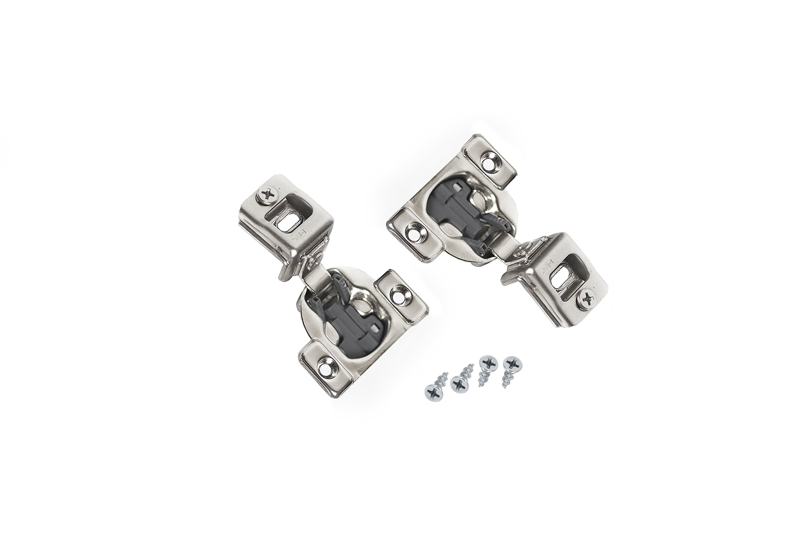 Comet Pro Hardware E55 1-1/4'' Compact Soft Close Face Frame Cabinet Door Hinges Full Overlay Nickel Plated, Screws are Included (40 Pack)