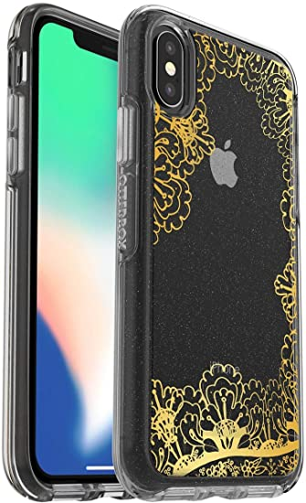 sale retailer 778ae 61f22 OtterBox Symmetry Series Case for iPhone Xs & iPhone X - Non-Retail  Packaging - Gold Lace