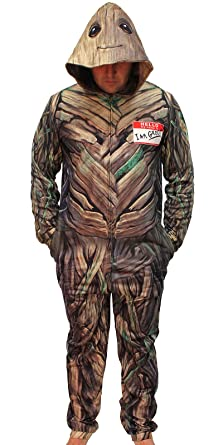 Guardians of the Galaxy Hello My Name Is I Am Groot Adult Union Suit (Large)