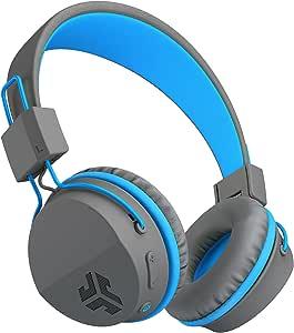 JLab Audio Neon Headphones On-Ear Feather Light (Bluetooth, Blue)