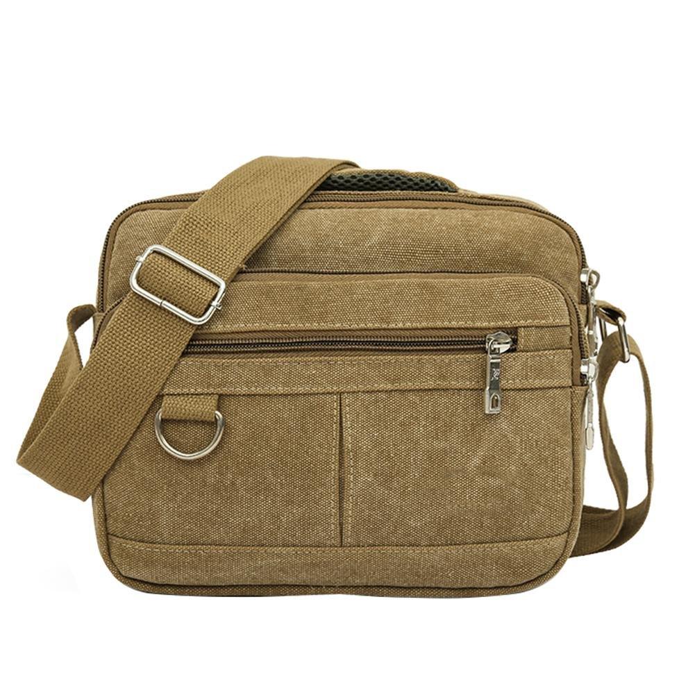 Domybest Sac à bandoulière mode en toile pour homme, décontracté, multi-poches, sacs à bandoulière décontracté