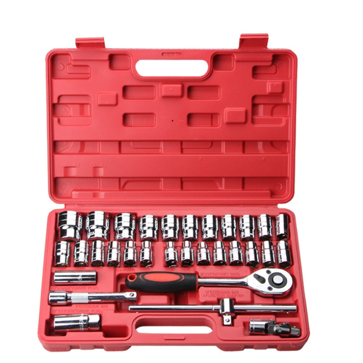 Your only family Practical Auto Repair Kit for Engine Repair, Tires, Etc. Auto Repair Combination 32-Piece Durable by Your only family