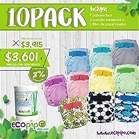 Paquete 10 Pañales Ecológicos De Tela Ecopipo