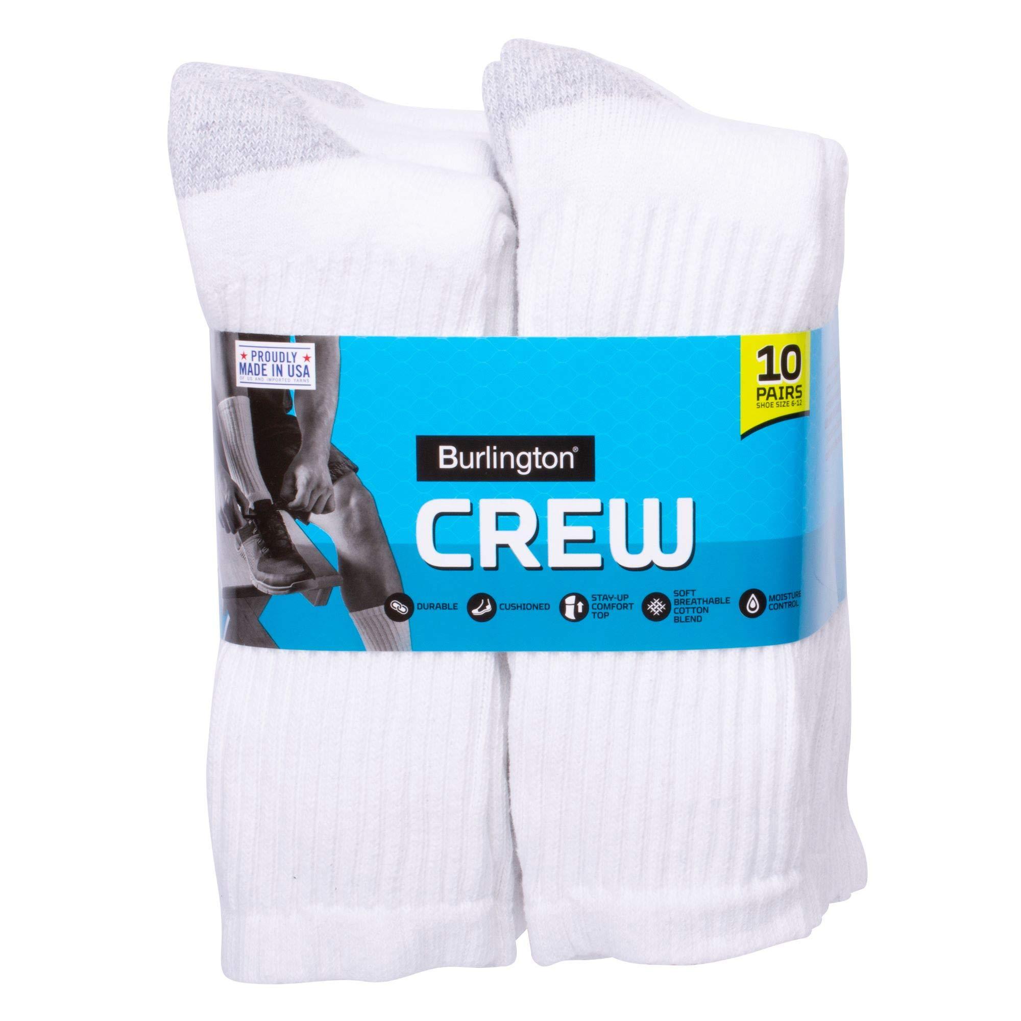 Burlington Comfort Power Men's Crew Sock, 10 Pair Pack