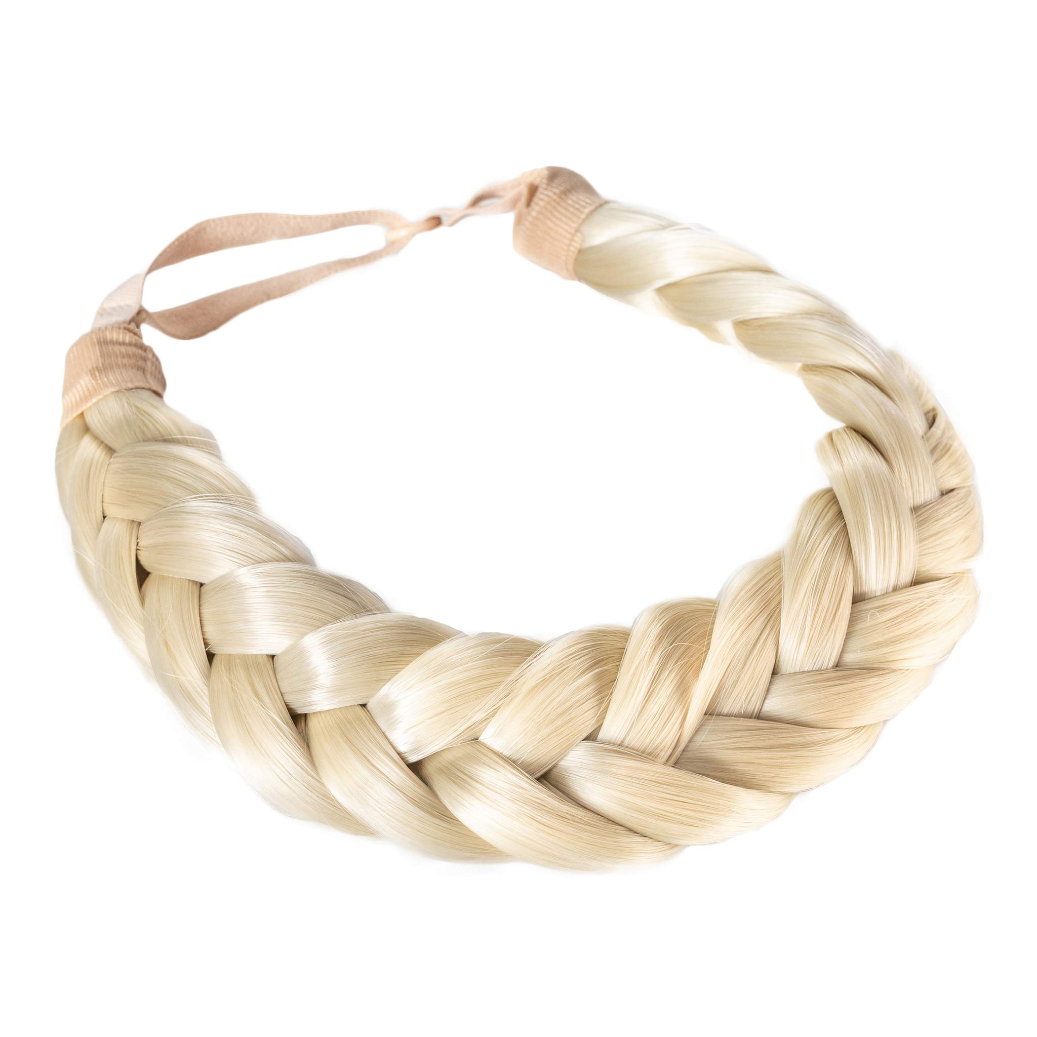 Madison Braids Women's Two Strand Headband Hair Braid Thick Natural looking Extension - Halo - Platinum by MADISON BRAIDS
