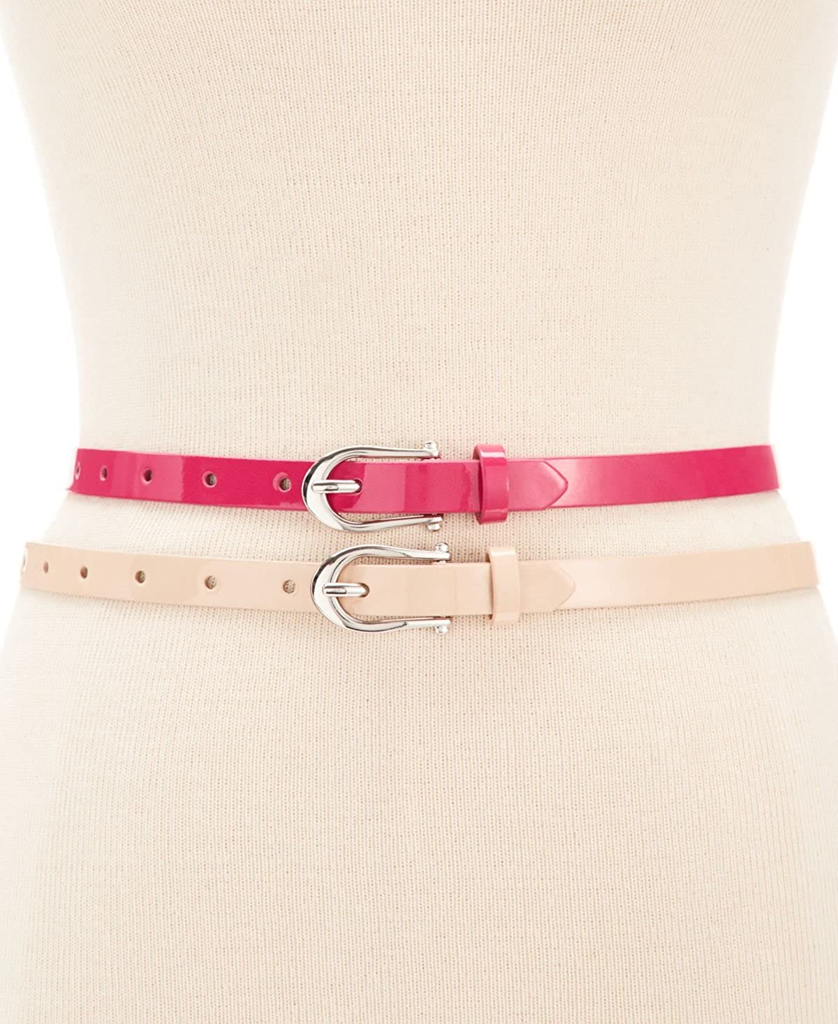 Womens 2 for 1 Pink Blush Belts Med Style /& Co