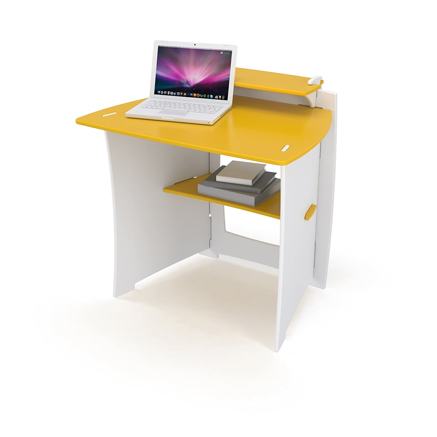 34-Inch Child Sized Computer Desk, Yellow and White