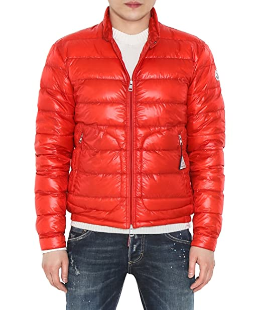 Moncler Acorus Men's Zip-Up Down Jacket 3 Red