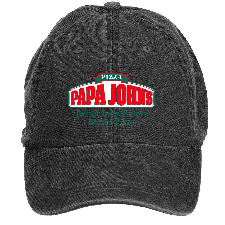 zlxwqh show papa johns logo cotton washed baseball cap velcro