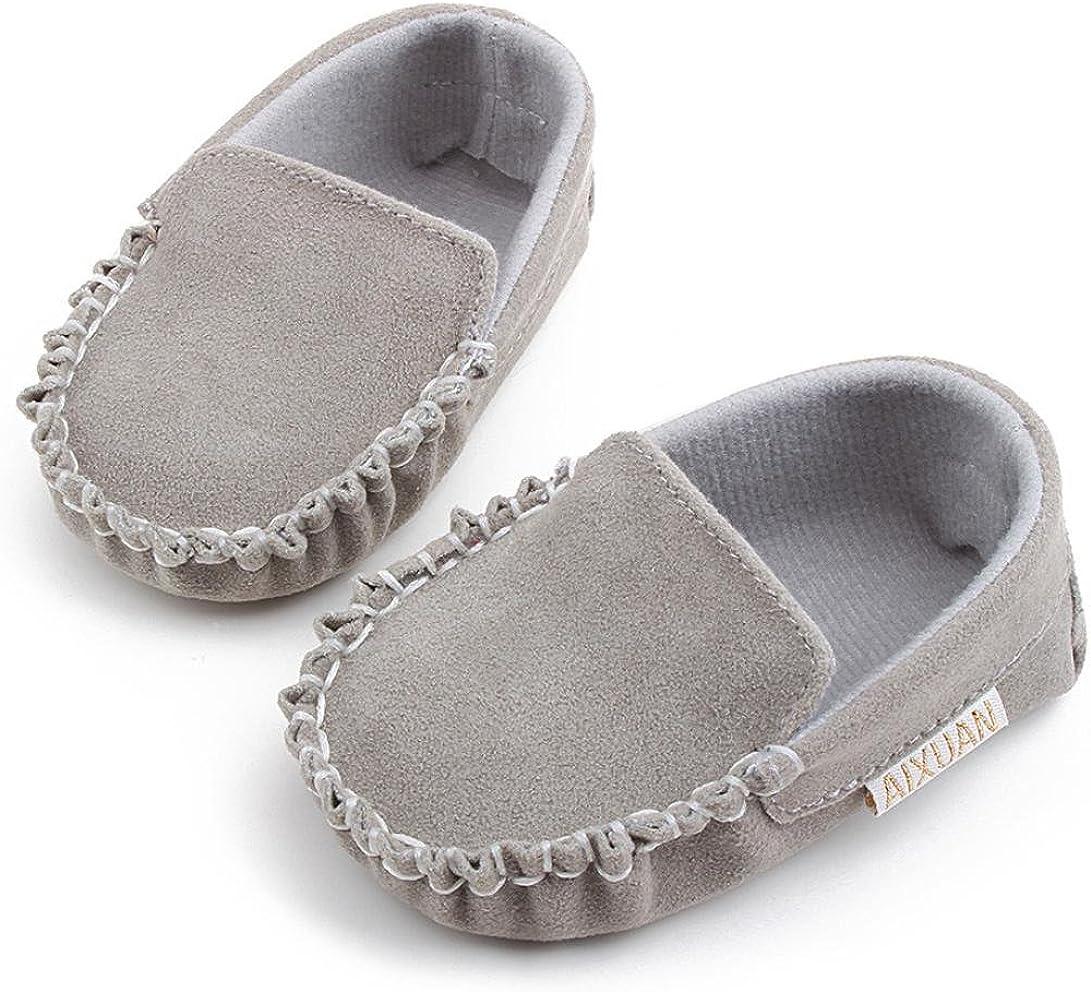 DDLBiz Baby Boys Girls Double Velour Soft Sole Shoe Soft Shoes Flats Shoes