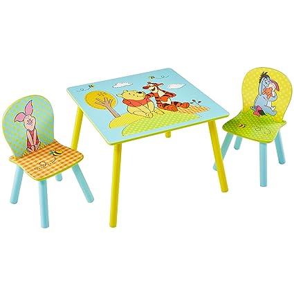 Winnie L Ourson Table Et 2 Chaises Pour Enfant Amazon Fr Cuisine