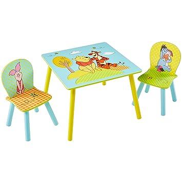 Winnie l\'Ourson - Table et 2 chaises pour Enfant: Amazon.fr: Cuisine ...