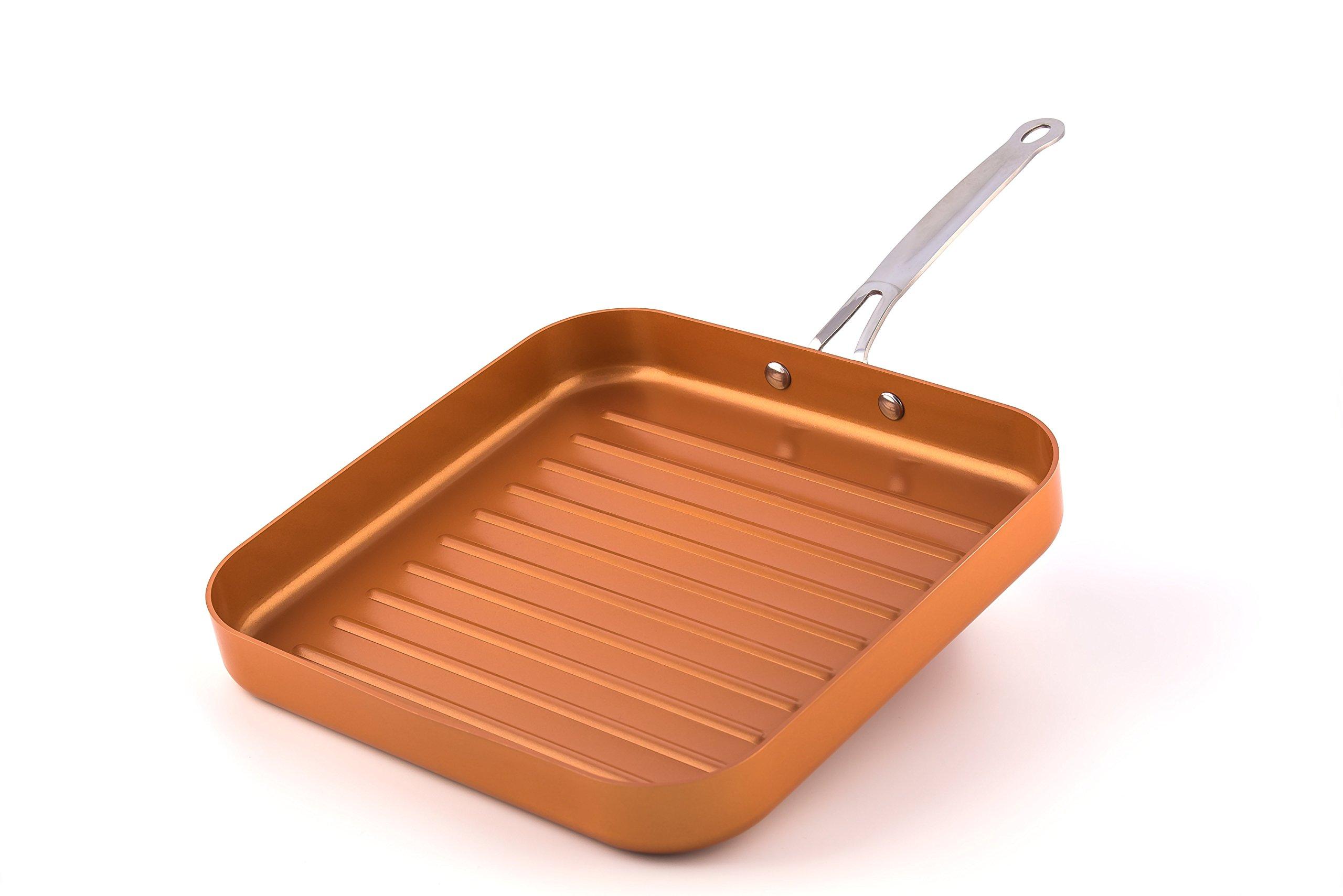 Original Copper Pan 11'' Non-Stick Deep Square Grill Pan