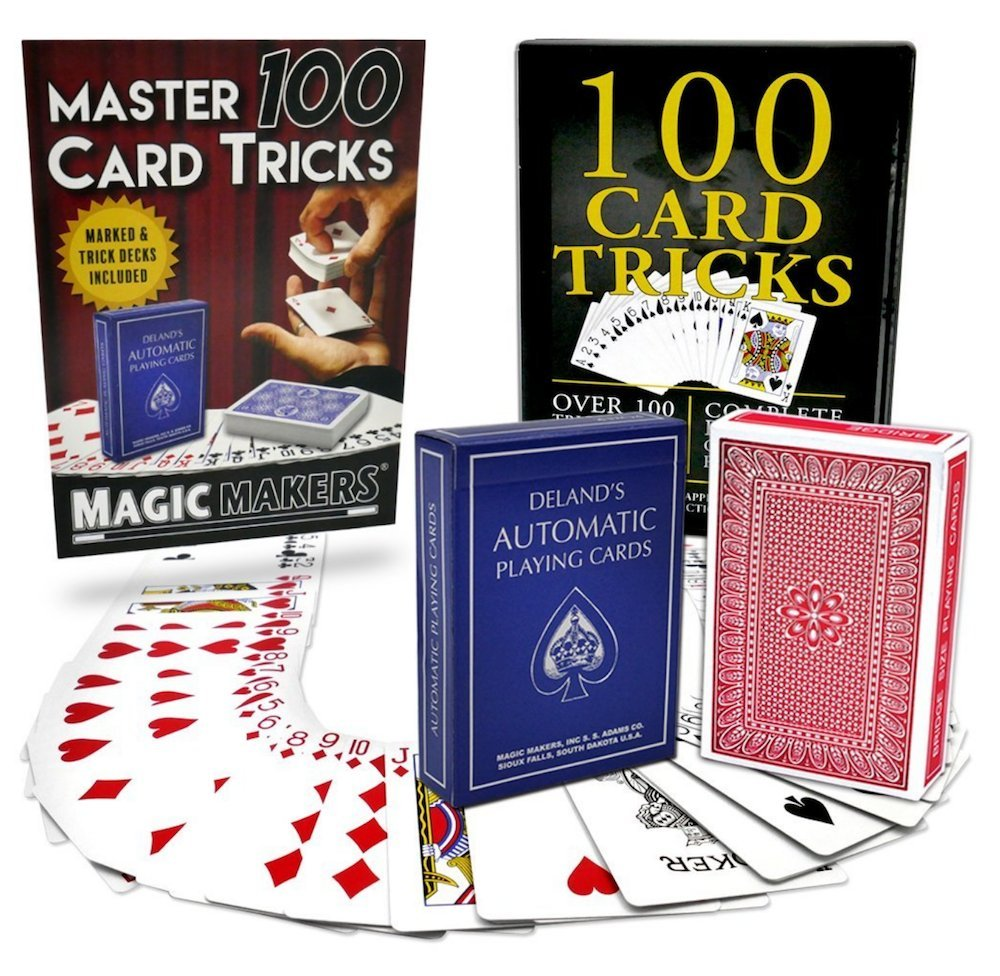 Magic Makers 100 Card Tricks Kit Includes Marked Deck & Svengali Trick Deck by Magic Makers