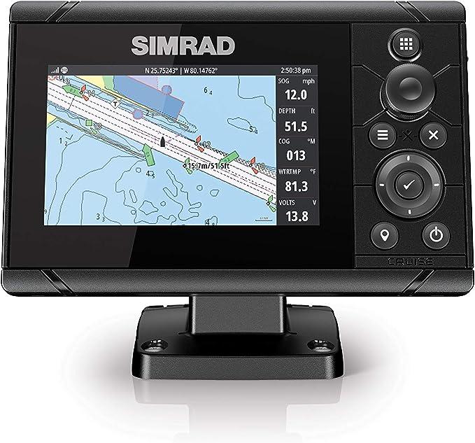 Simrad Cruise-5 Gráfico trazador con una pantalla de 5 pulgadas y mapas costeros de EE.UU. instalados: Amazon.es: Coche y moto
