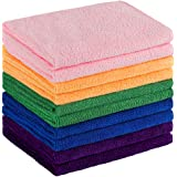 Microfiber Cleaning Cloth,Softer Highly Absorbent Multi-Purpose Towel,Domestic Cleaning Cloth with Reusable and Lint…