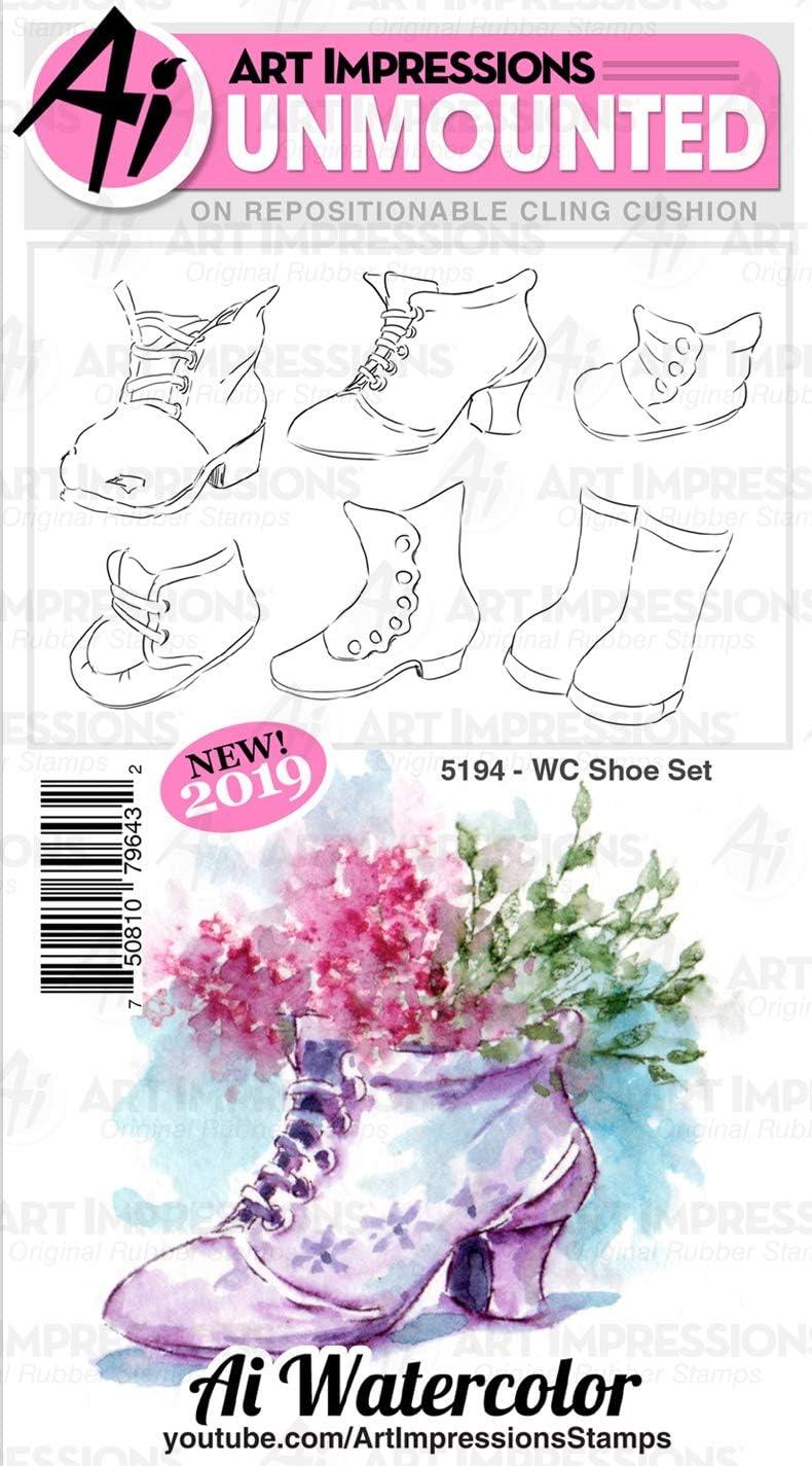 ART IMPRESSIONS 5194 AI Rubber Stamp Set WC Shoe