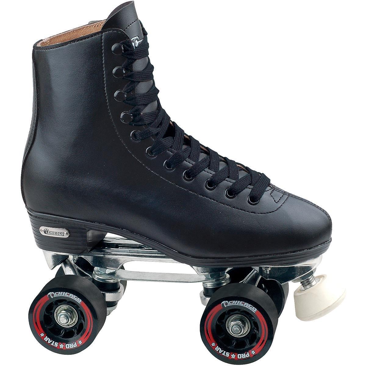 Chicago Men's Leather Lined Rink Roller Skate (Size 12), Black